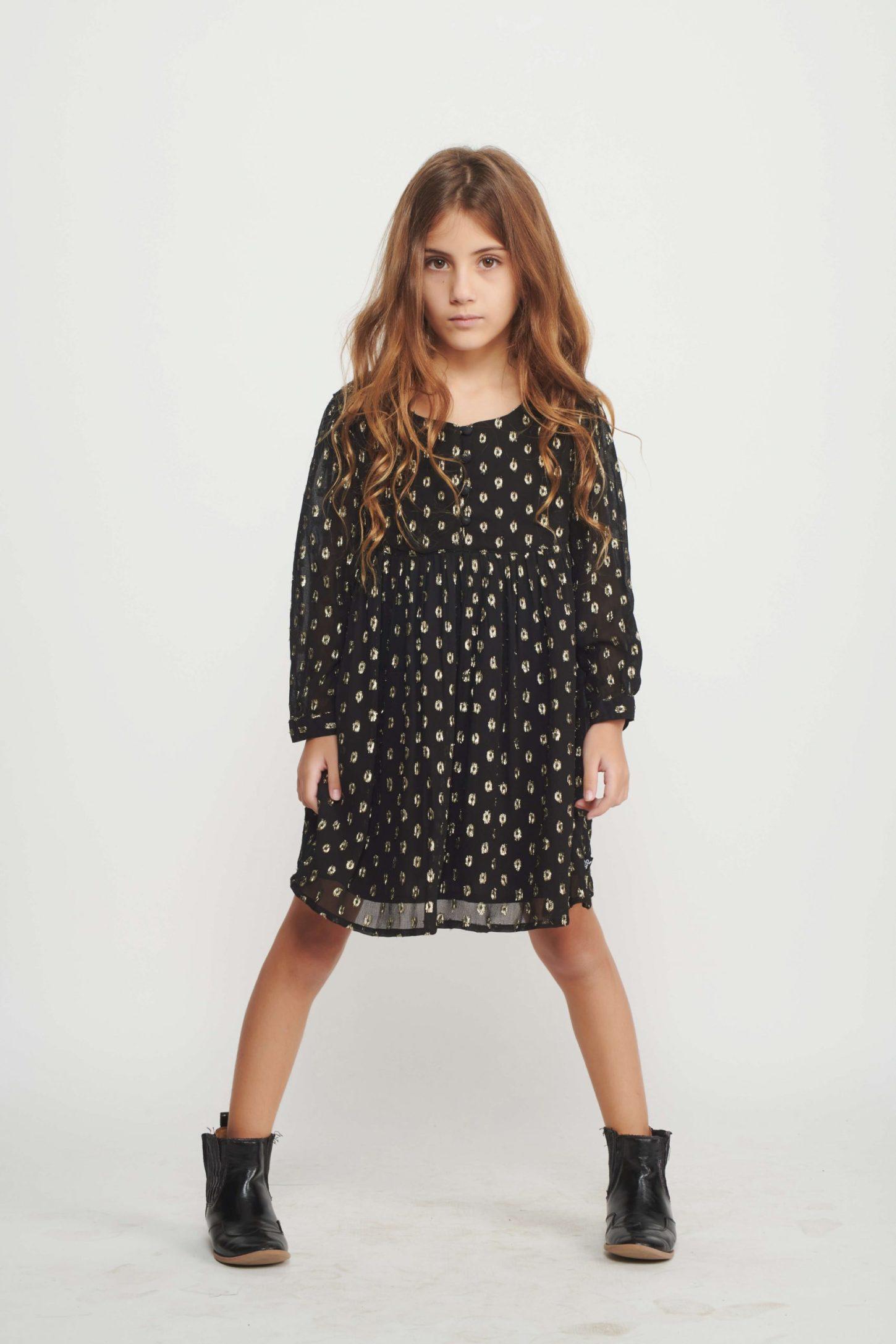 black polka dress