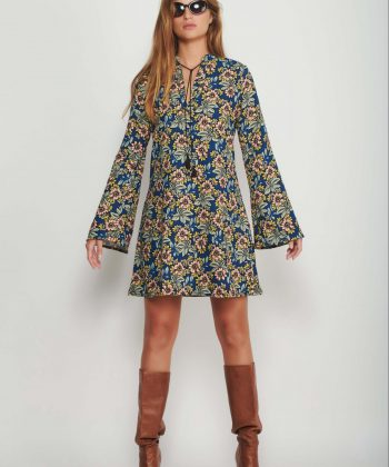 60s flowers dress women