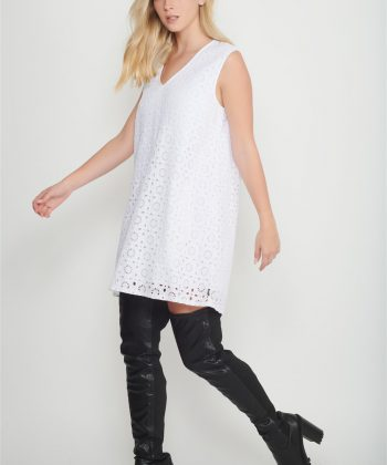 white guipure dress women