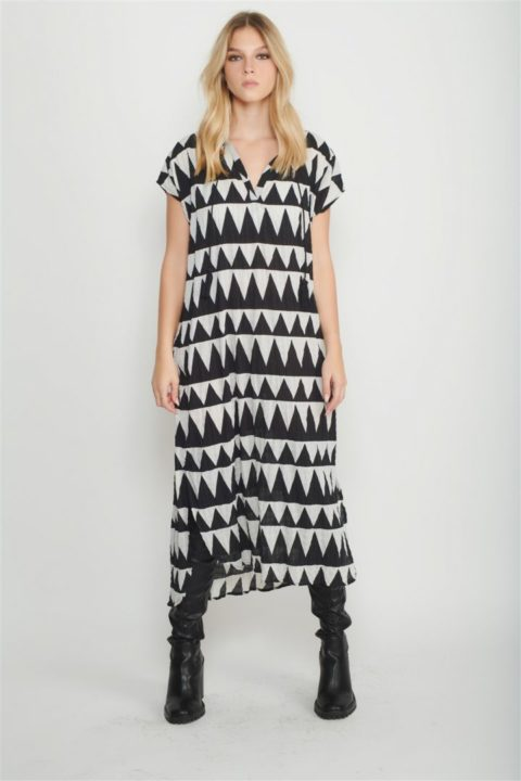 pyramid caftan dress women