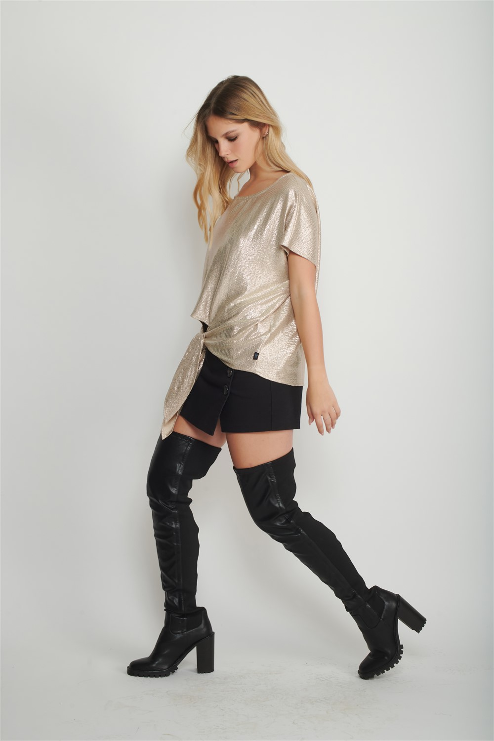 Silver Bow Shirt for Women