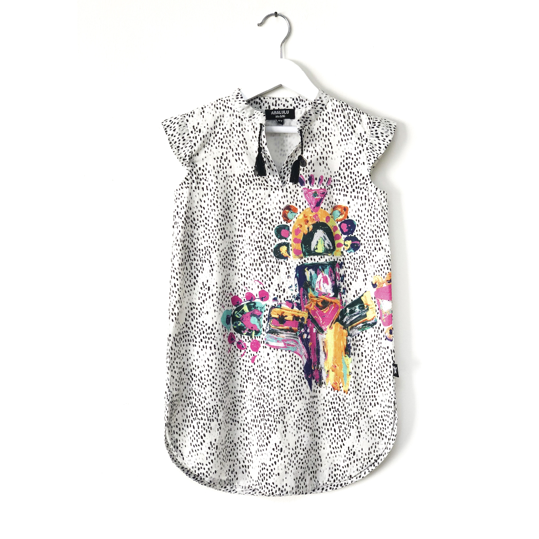 Totem Caftan Dress for girls