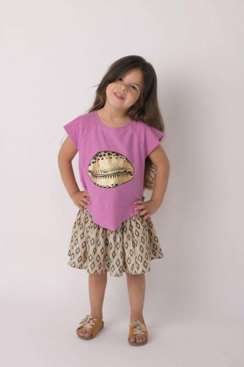 gold cowrie girls shirt