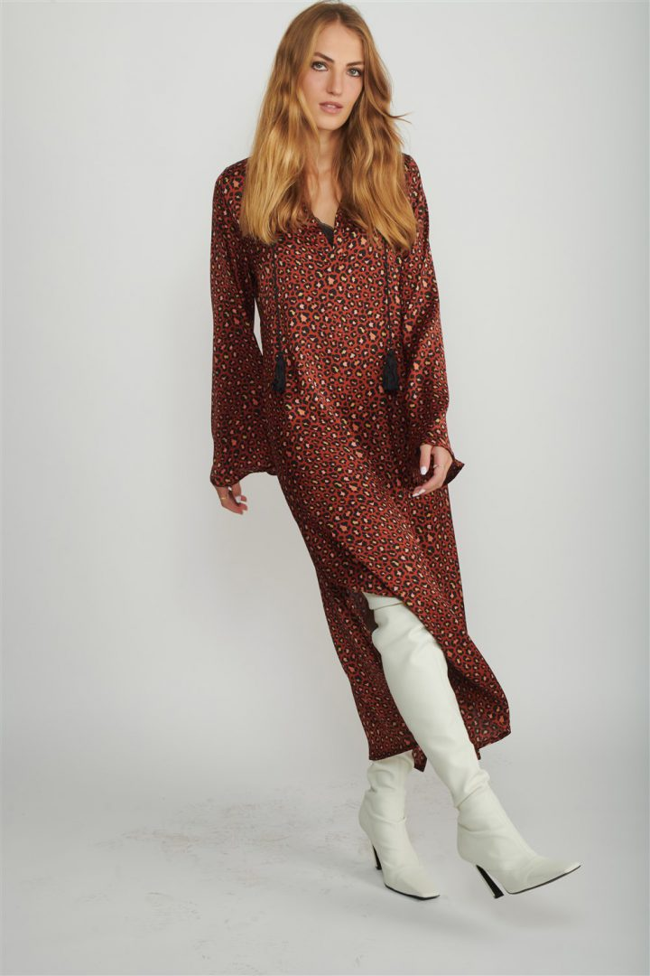Mottled Safari Dress for Women
