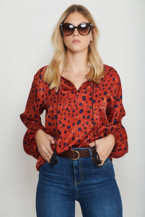 Red Land Shirt for Women