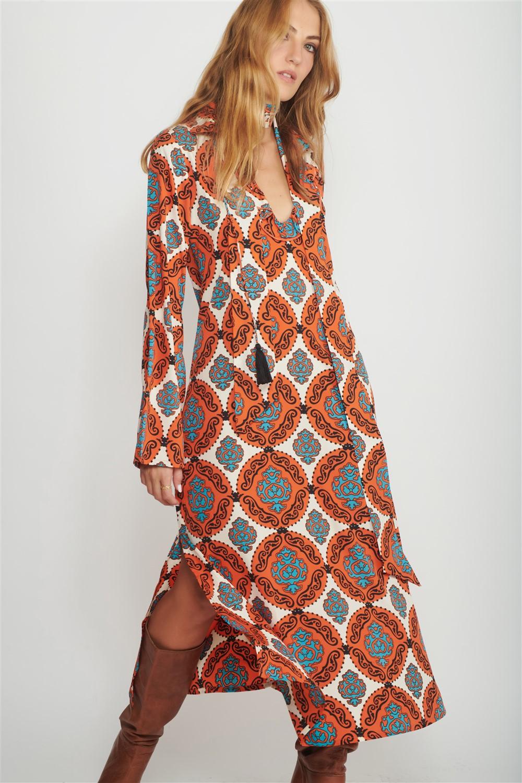 loretta midi dress women
