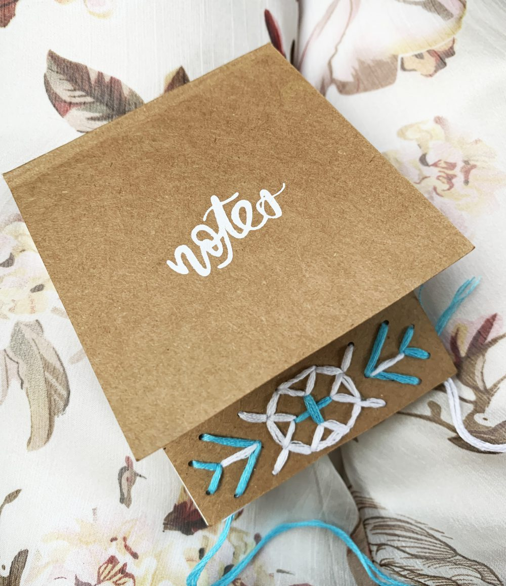 DIY EMBROIDERY KIT FOR NOTEPADS