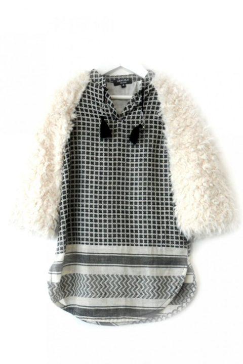 Oriental Fur Caftan Dress for Girls