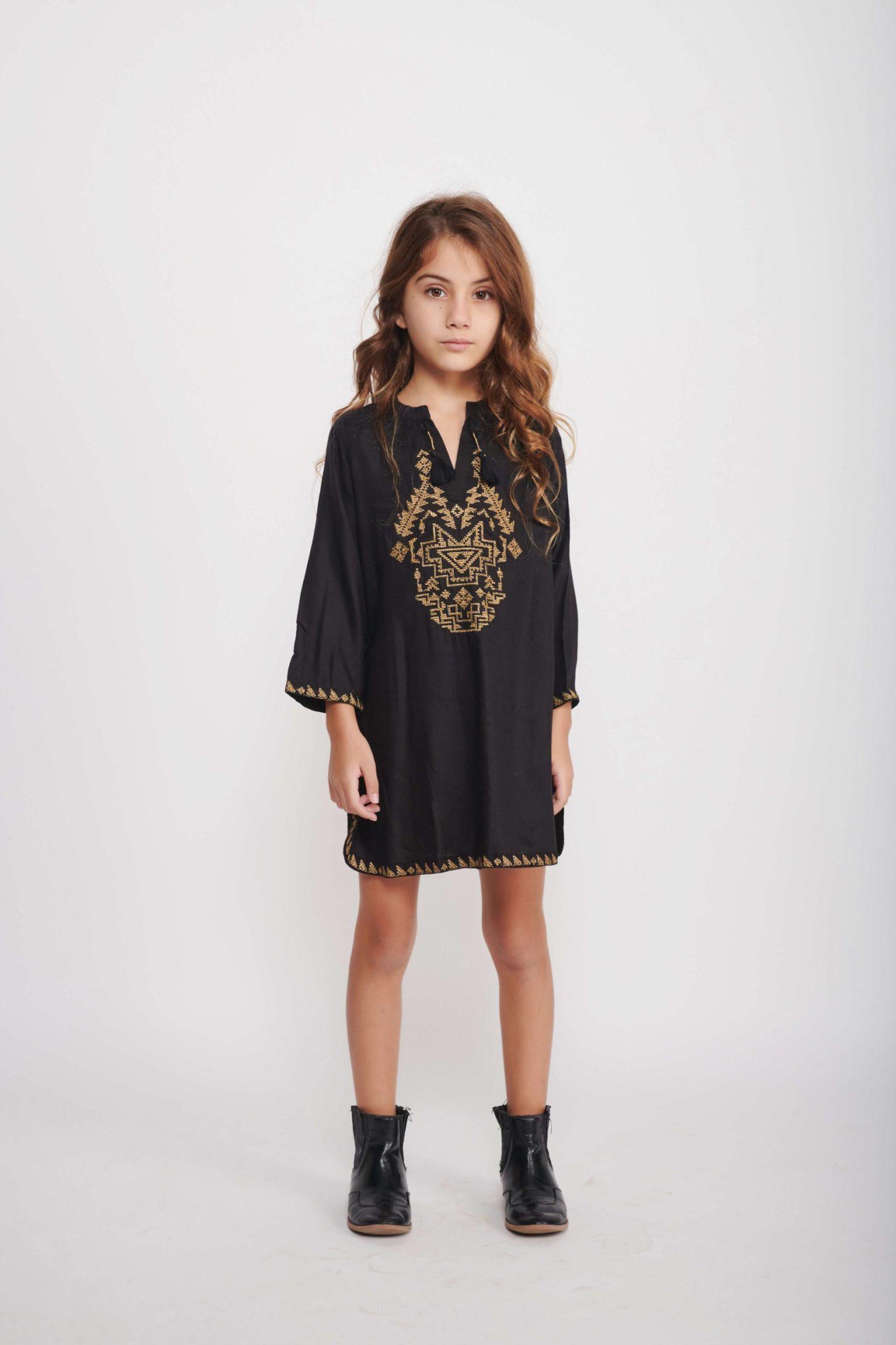 שמלת Black Holly Caftan לילדות