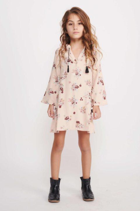 שמלת 60s' Pink לילדות