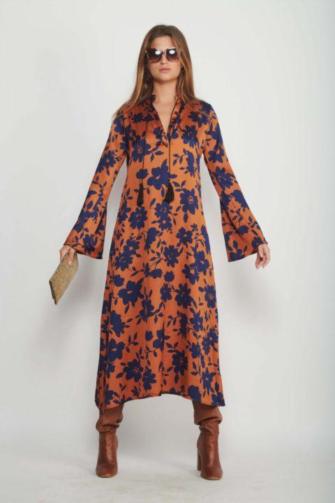 שמלת מקסי Lapis Flowers לנשים