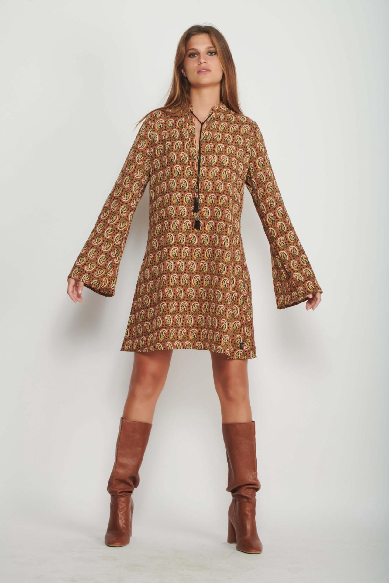 Retro Paisley Dress for Women