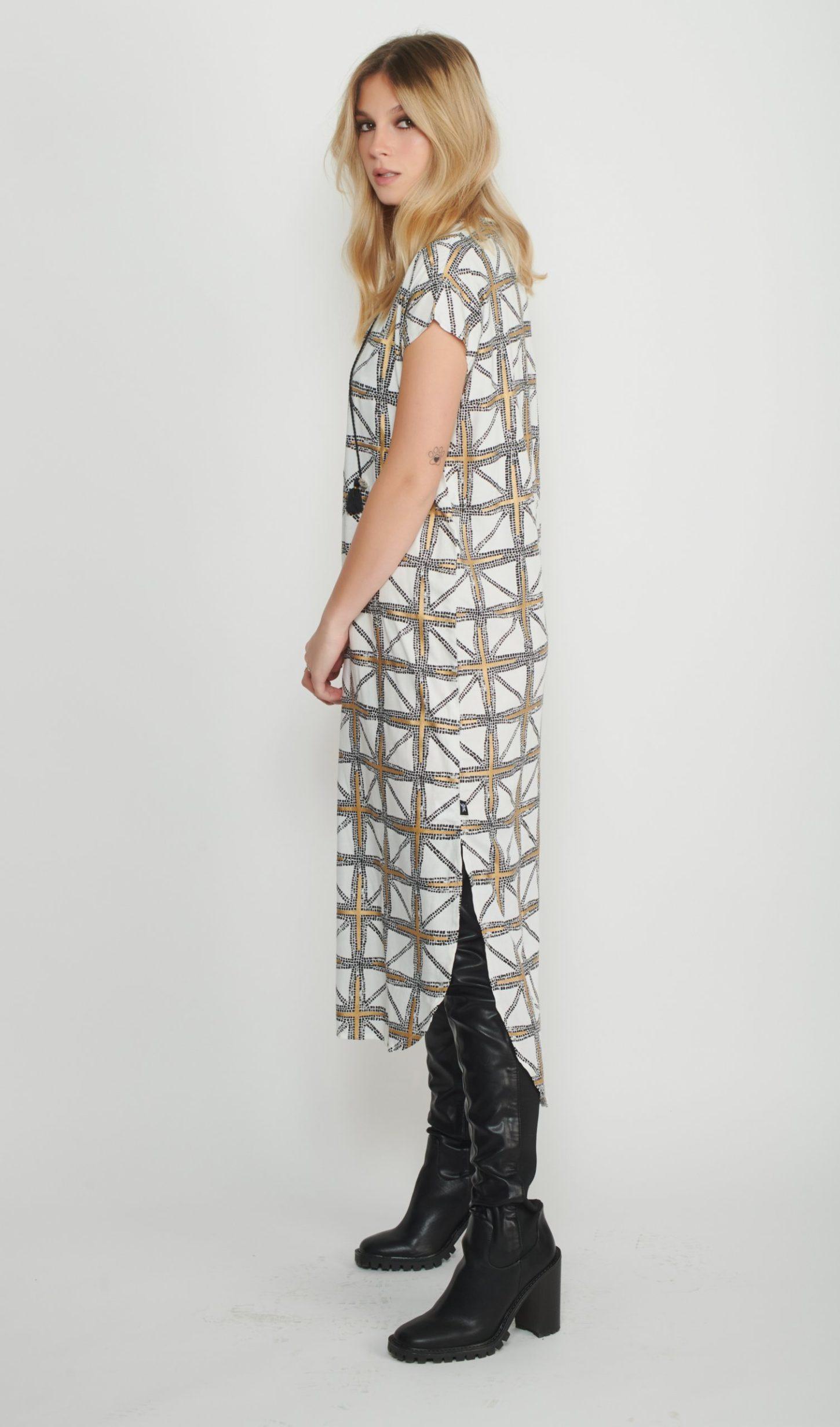 Mosaic Long Caftan Dress for Women