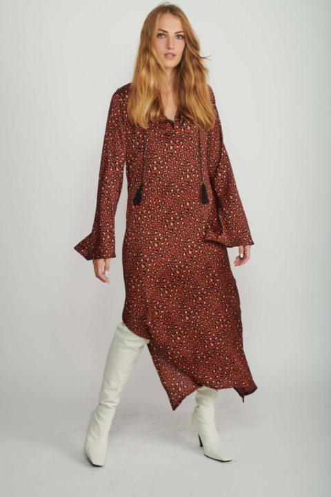 שמלת מקסי Mottled Safari לנשים