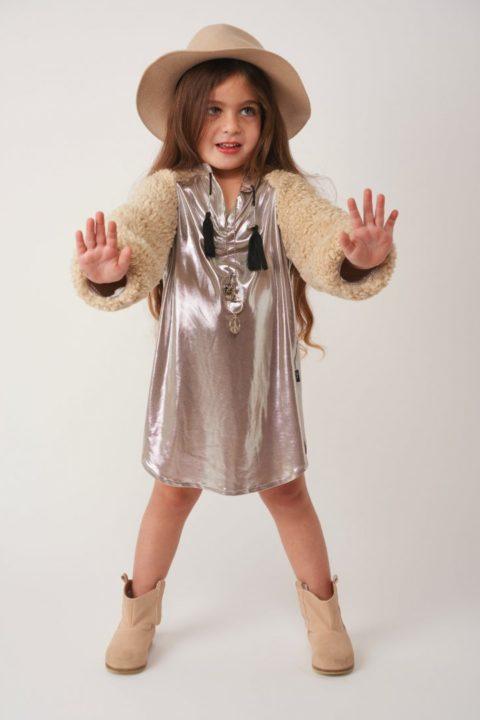 שמלת Silver Fur Caftan