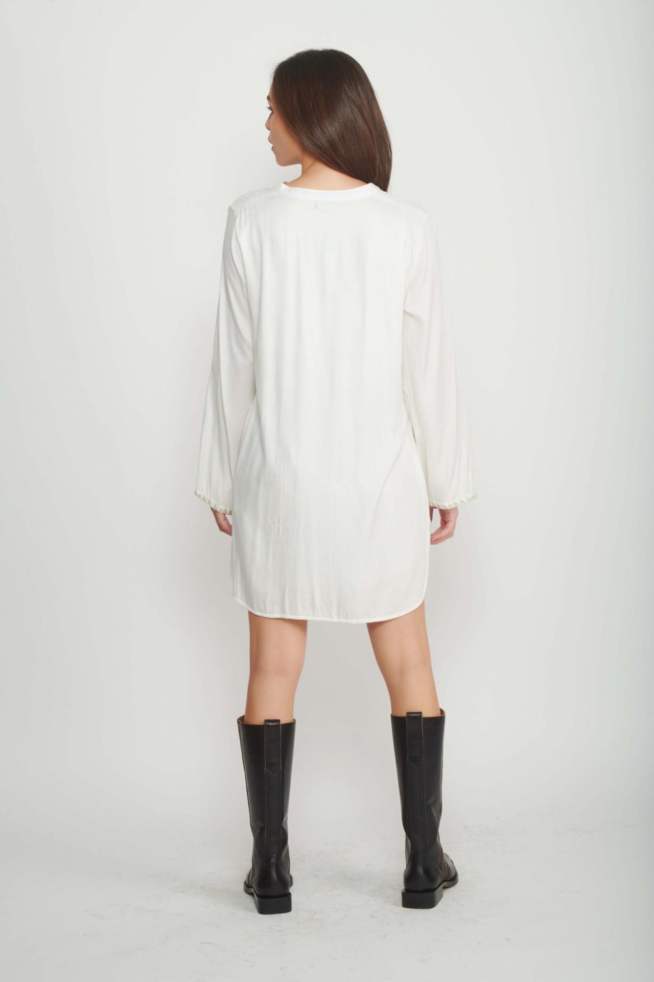 Cream Holly Mini Dress for Women