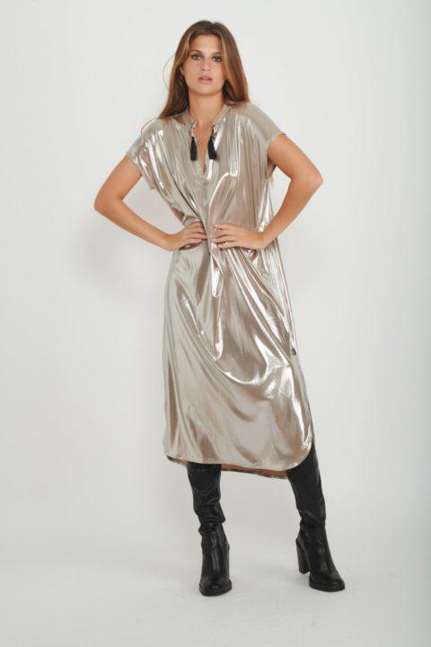 שמלת גלביה Metallic Tribal לנשים