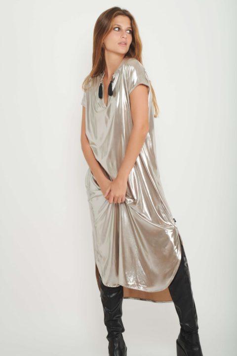 Metallic Tribal Galabia Dress for Women