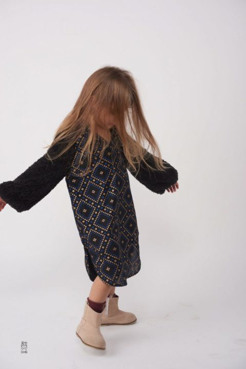 שמלת Argyle Fur Caftan לילדות