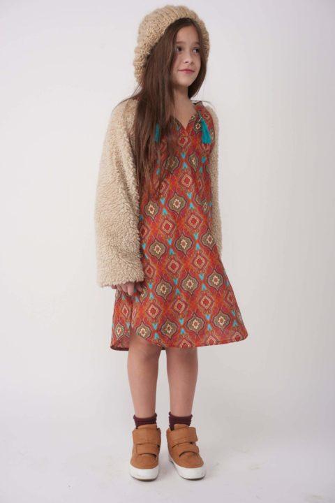 שמלת Red Fur Caftan Dress לילדות