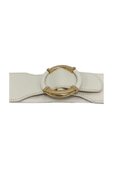 White Ring Belt