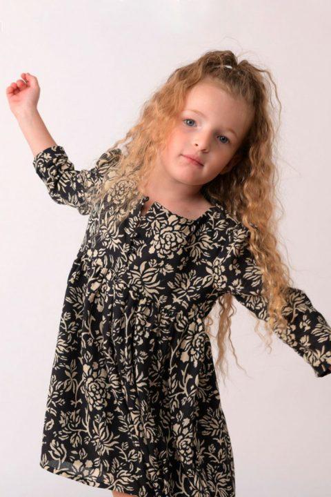 Black Heidi Dress for Girls