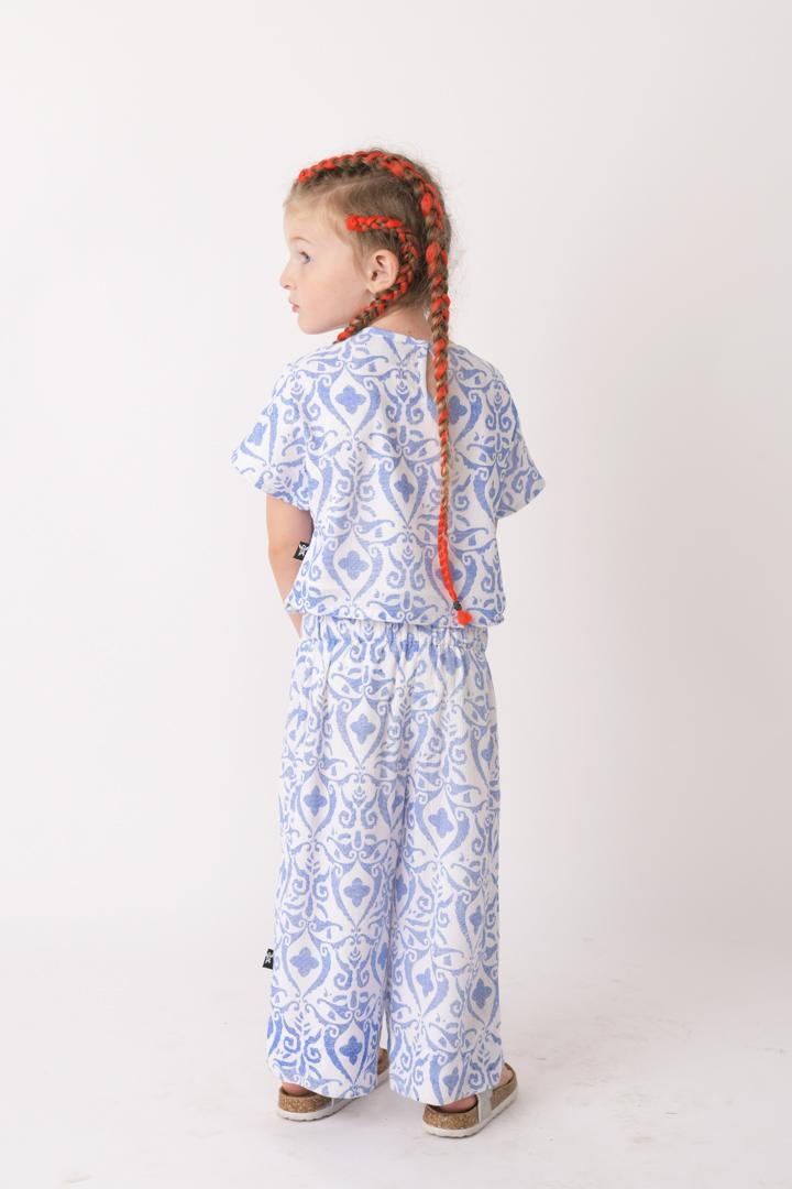 מכנסי Blue Damask לילדות