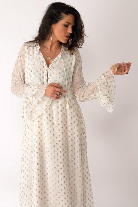 שמלת Cream Polka לנשים