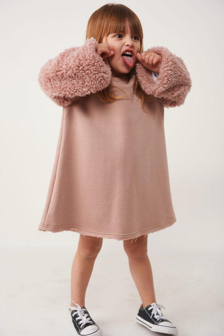 שמלת Pink A-Line Fur לילדות