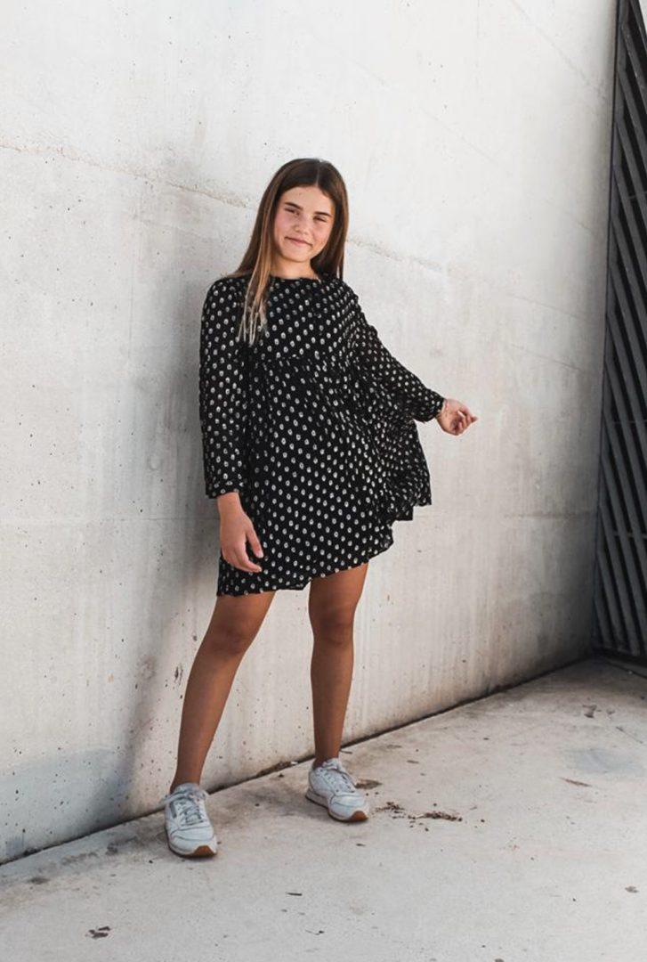 שמלת Black Polka לילדות