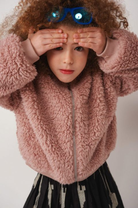 Reversible Retro Fur Coat for Girls