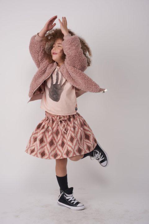 Retro Pink Skirt for Girls