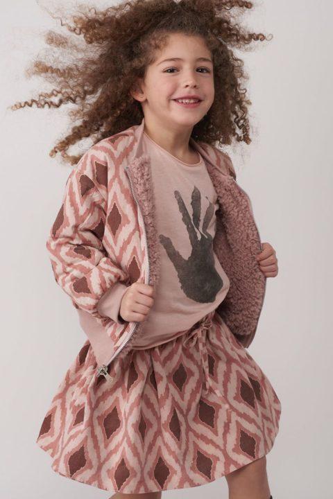 מעיל Reversible Pink Retro Fur לילדות