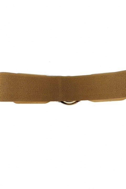 Beige Ring Belt