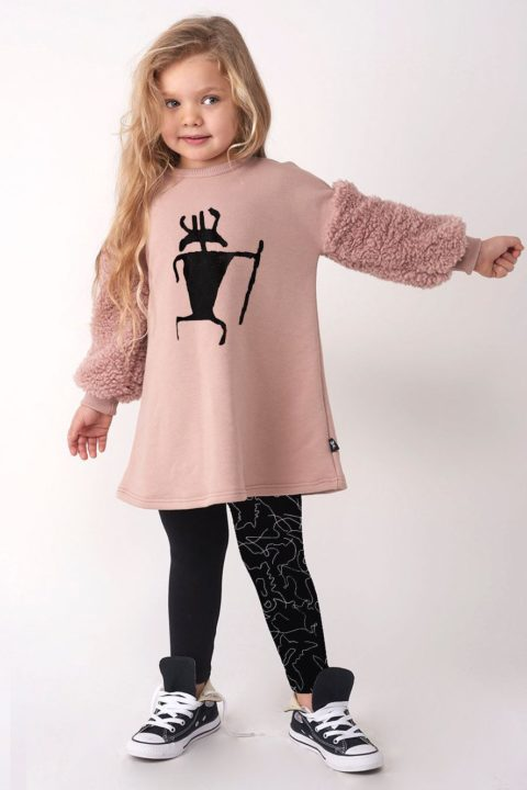Tribal Leader Fur Tunic for Girls