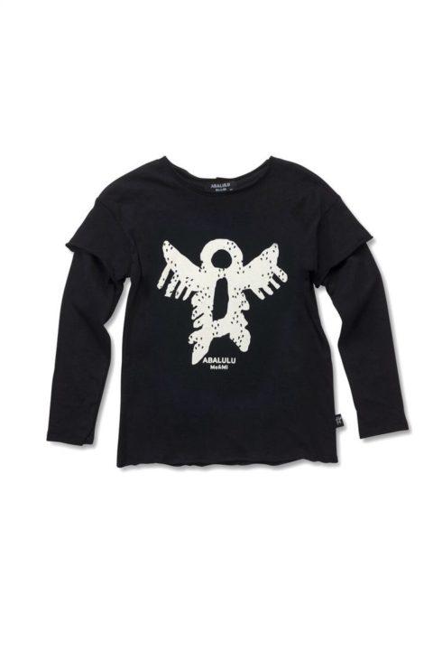 חולצת Tribal Leader שחורה ארוכה לילדים